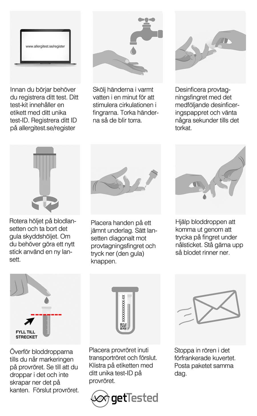 Instruktioner Allergitest
